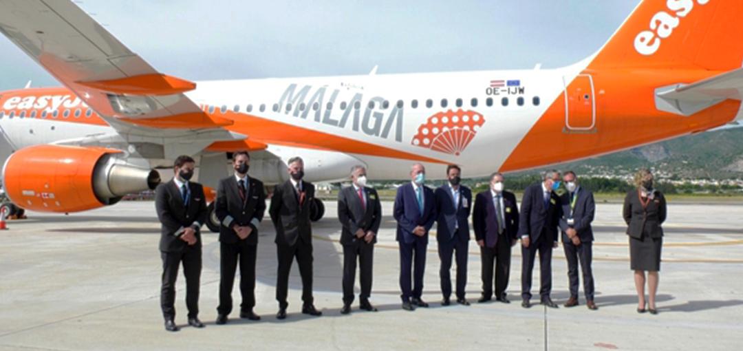 Easyjet reforzará su base estacional en Málaga el próximo verano